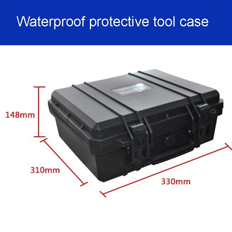 Tööriistakast tööriistakasti kohver Löögikindel suletud veekindel kaitseümbris 330 * 310 * 148mm Instrumentide karp eelnevalt lõigatud vahuga JP2