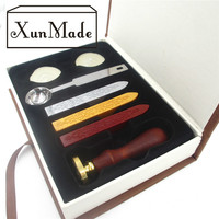 New Stamp With Gift Box Retro Sealing Wax Stamp With Handel Spoon Wax Stick White Wax