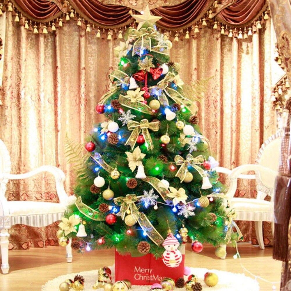 Искусственная Рождественская елка Arbol De Navidad Новогодняя Снежинка стекающая Рождественская елка сосновые иглы дерево фестиваль украшения д...