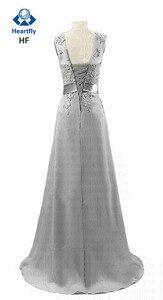 Image 2 - ANGELSBRIDEP Sheer Neck Chiffon Bridesmaid Dresses Long Robe Demoiselle Dhonneur Applique Floor Length Formal Party Dresses