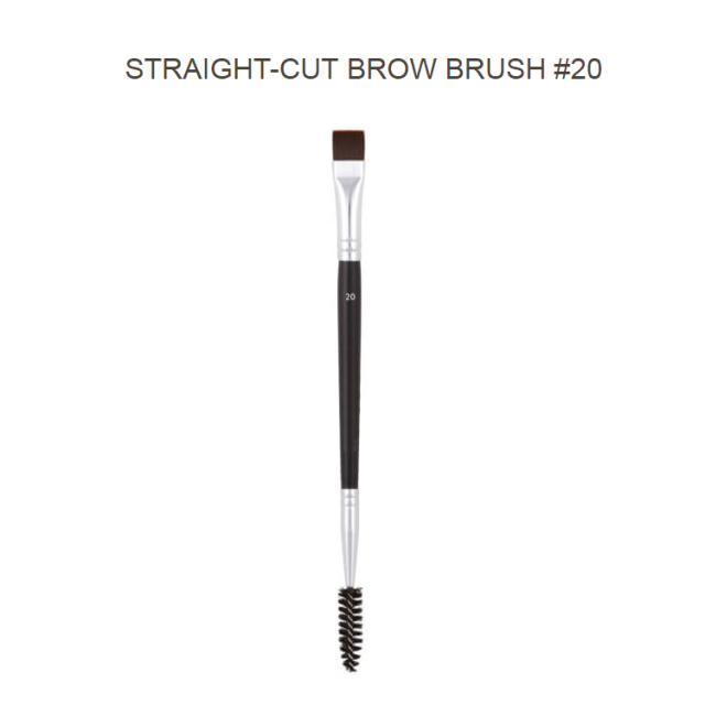 Professional Dual Sided Duo Brow Brush 12# 15# 7# 20# Eyebrow Enhancer Angled Eyebrow Brush + Comb Beauty Makeup Tool 1PCS 4