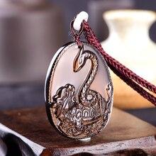 Куриный год рекрут мужской t Знак зодиака змея талисман Xuanwu паломник Подвеска из вулканического стекла для мужчин и женщин