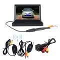 """Sem fio 5 """"Fordable Cor Tela LCD TFT Monitor de Visão Traseira COM Visão Noturna Câmera de Segurança Retrovisor Para Ônibus Veículo"""