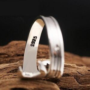 Image 4 - ZABRA Genuine Pure 925 Sterling Silver Cool Wrench Ring Men Adjustable Retro Love Vintage Punk Rings Women Biker Silver Jewelry