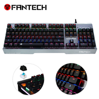 FANTECH MK881 מקורי מתכת מכאני Waterprof מקלדת משחקי מקלדת 104 מפתחות LED אור RGB מפתח מלא ללא קונפליקט