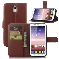 CYBORIS for Huawei Ascend Y625 Case Leather Phone Case for Huawei Y625 Flip Cover with Stand Wallet Bag Card Holder