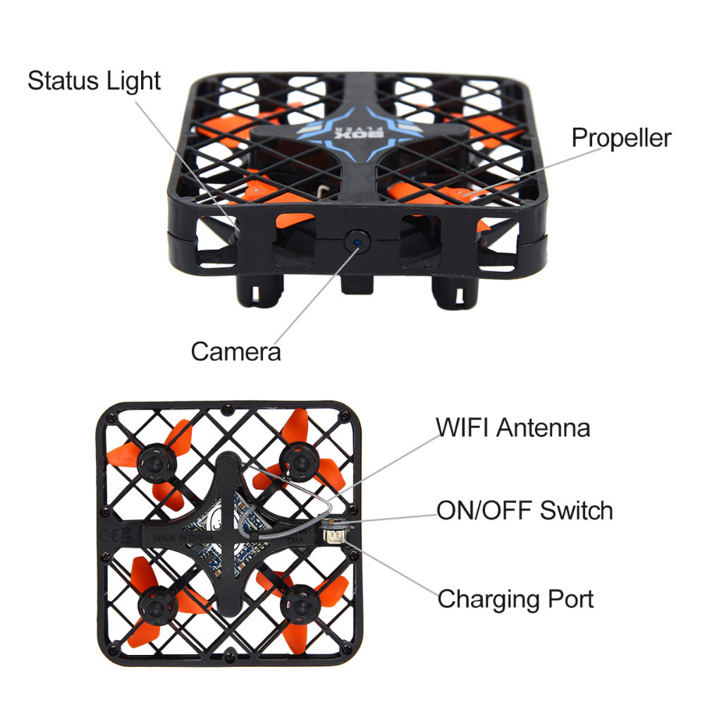 HISHITOON Super Micro RC Quadcopter Box With/Without WIFI Camera Mini Drone With Altitude Holding