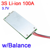 3S 100A 12V w/ Balance 18650 Li-ion LiPo Lithium battery Protection Board bms pcm mos 3.7V batteries UPS inverter