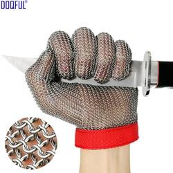 100% 304 кольцо из нержавеющей стали перчатки для защиты от порезов Высококачественный нож упорная защита рук Мясник резки защитные перчатки