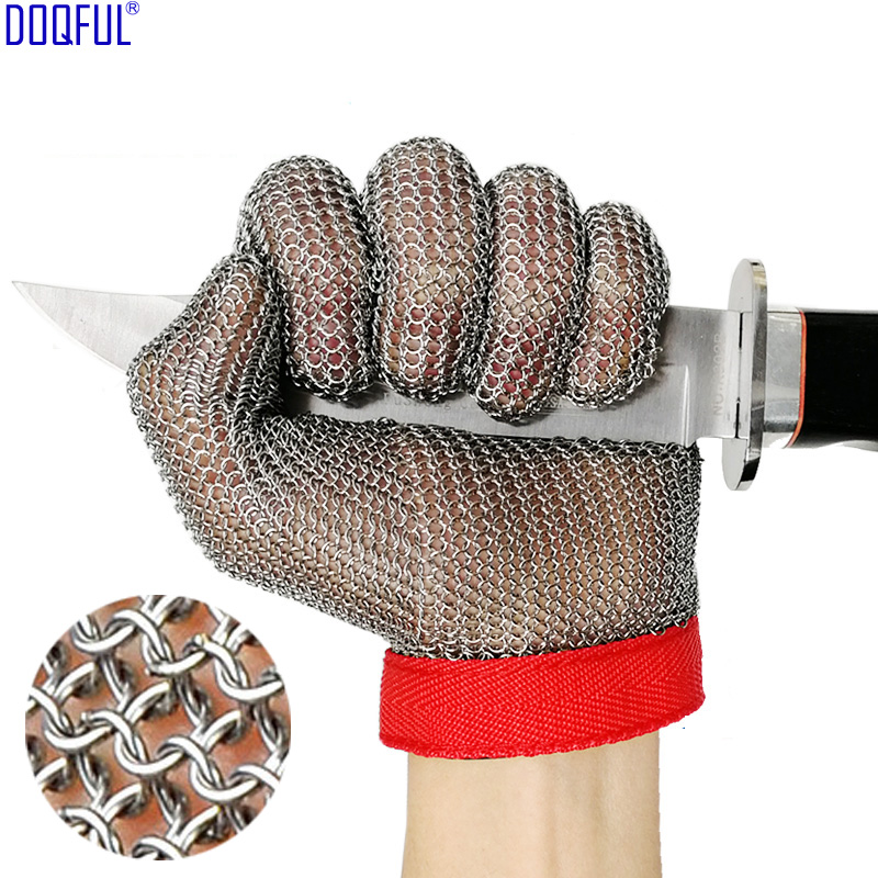 100% 304 Stainless Steel Ring Anti Cut Glove High Quality Knife Resistant Hand Protection Butcher Cutting Protective Gloves