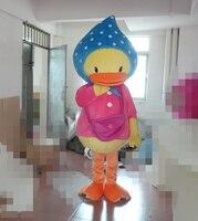 2016 Hot Sale new pink duck mascot costume animal costume school mascot fancy dress costumes