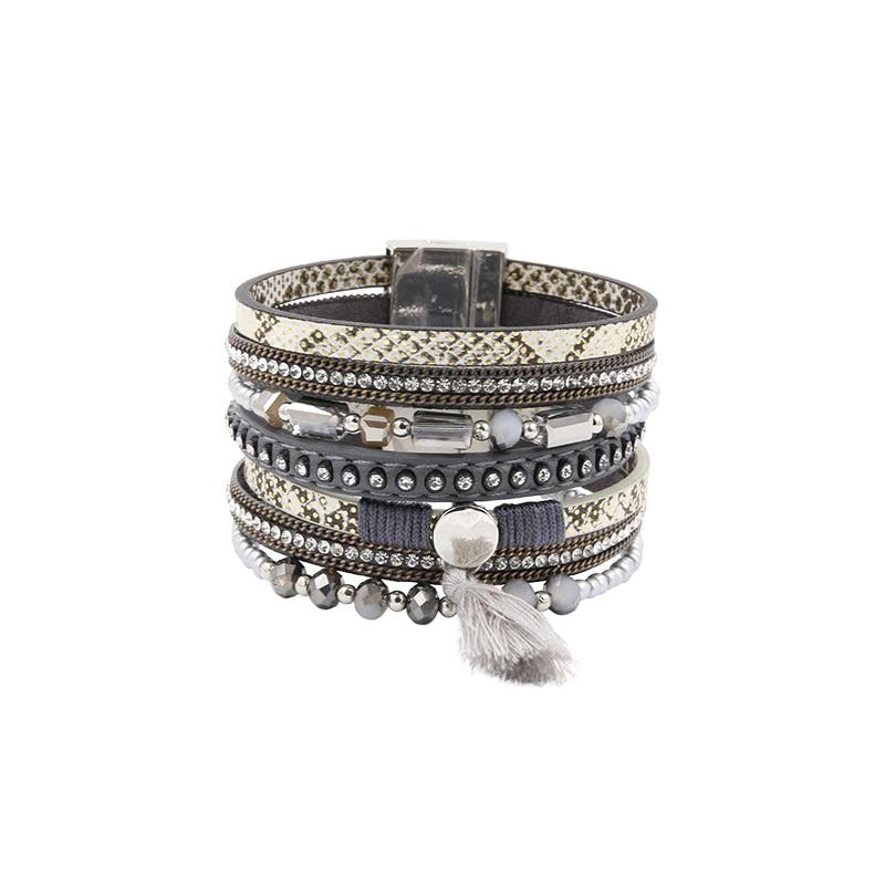 Βραχιόλι PU Δερμάτινα βραχιόλια & Bangles - Κοσμήματα μόδας - Φωτογραφία 2