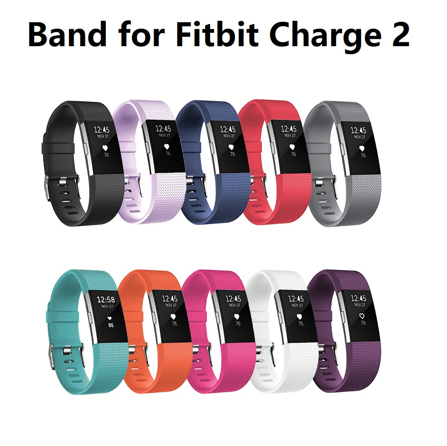 19 Colors Silicone Replacement Band for Fitbit Charge 2 Soprt Bracelet Wristband for fitbit charge 2 Heart Rate Smart Watch S/L