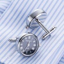 New Arrival Real Watch Cufflinks VAGULA Clock Cuff links With Battery tourbill Machine Core Mechanical Gemelos