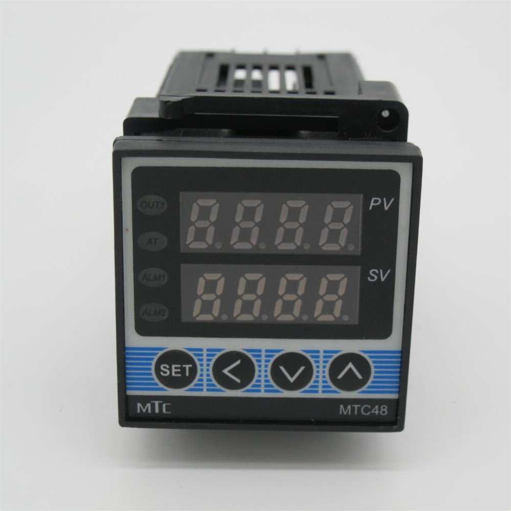 Alta Qualidade MTC48 RKC PID Controlador de temperatura Digital de doble con termopar K, relé de saída 48*48*110 MM