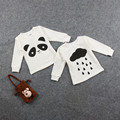 Panda Cloud T Shirt Baby Boy Girl Tops Long Sleeve Knitted Shirt Sweatshirt Moleton Infantil Wear