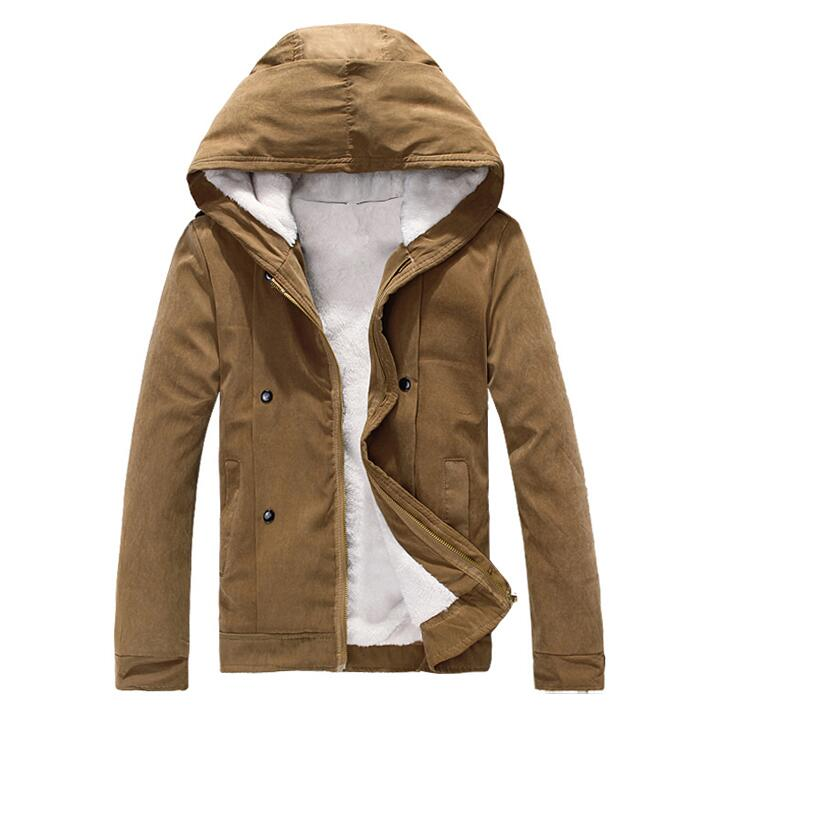 Good Quality Men Hooded Wool Liner Jackets New Male Autumn Winter Warm Outerwear & Coats Teen college style JACKETS size 3XL