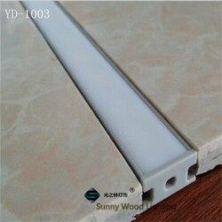 10-30 шт./лот 40 дюймовый алюминиевый профиль для светодиодной ленты, Встроенный канал для 8-10 мм печатной платы, Светодиодная панель, встроенны...