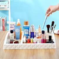Multi Grid Large Desktop Storage Box Lipstick Holder Display Stand Case Makeup Organizer Jewelry Finding Boxe