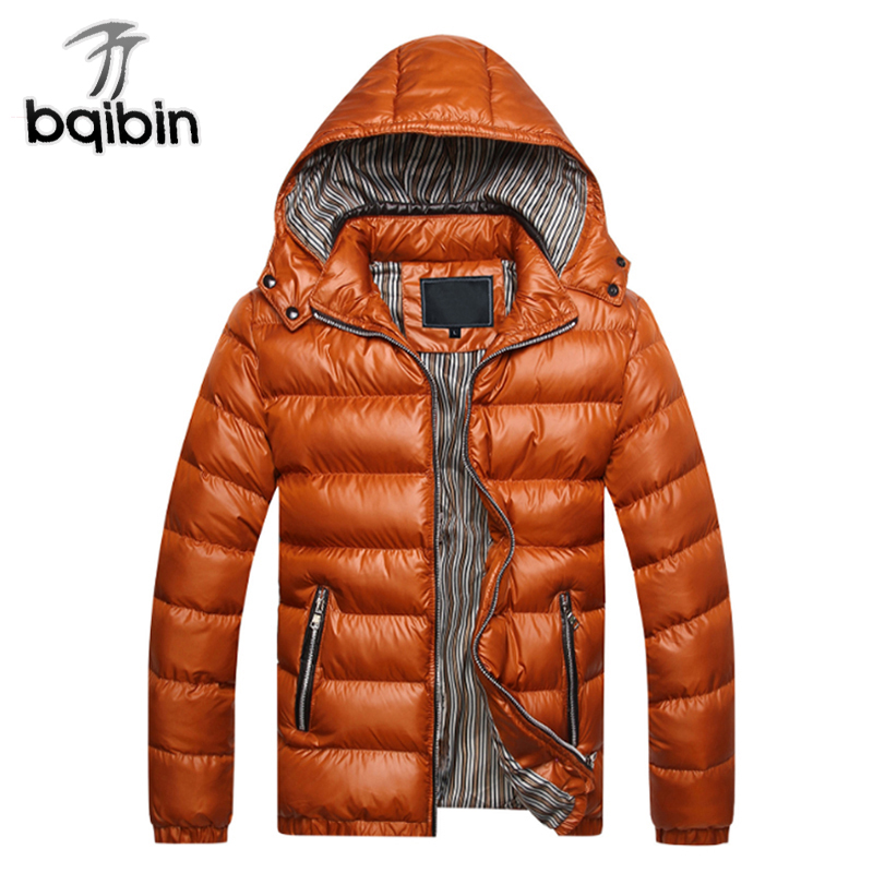 Parka Men 2018 Winter Jacket Men Coat Slim Casual Cotton Padded Hooded Hombre Parka Mens Coats Jackets Warm Thick Outwear цена