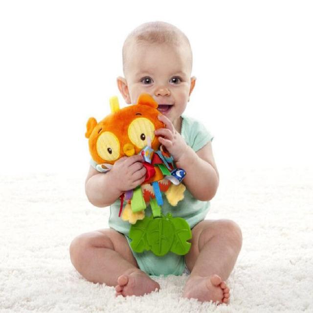 Recém-nascidos Prática Pássaro Bonito Mão Do Bebê Chocalho Brinquedos Do Bebê Educação Berço Boneca Crianças Brinquedo Macio Conforto