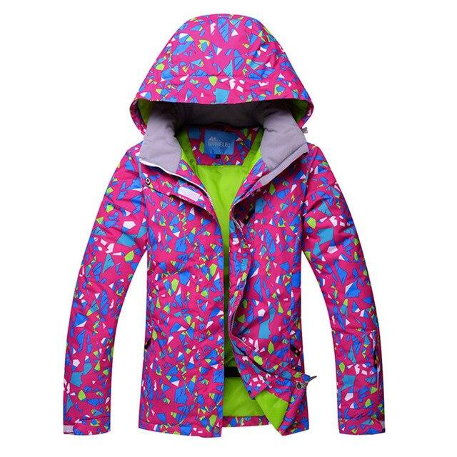 0ac3d18c9d 2018 Women Ski Wear Ski Jacket Windproof Waterproof Clothing Outdoor Sport Wear  Skiing Snowboard Cycling Female Hooded Coat Warm