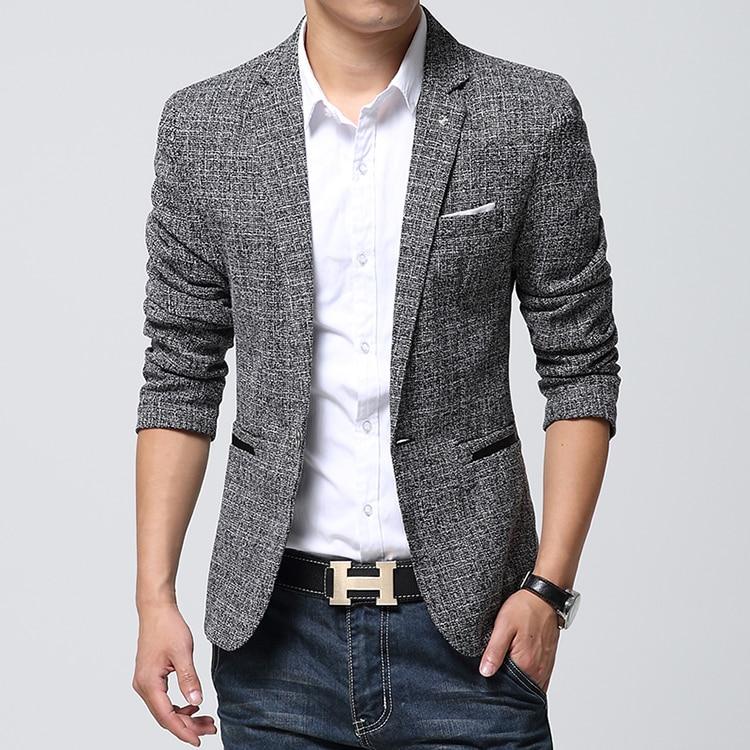 Aliexpress.com : Buy British's Style New Brand Blazer Men Linen ...