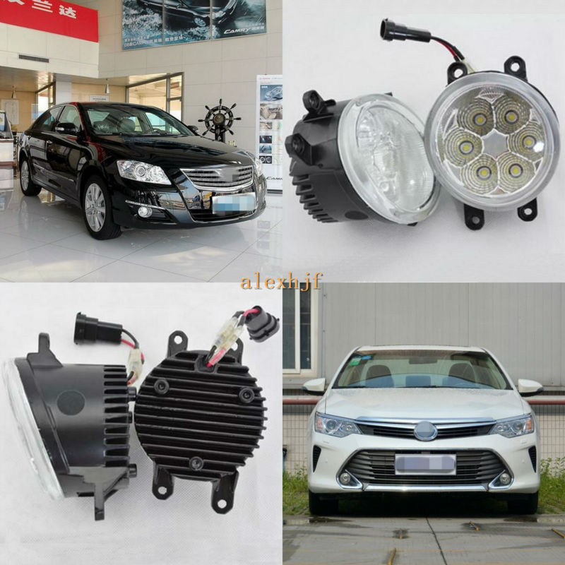 ФОТО July King 18W 6500K 6LEDs LED Daytime Running Lights LED Fog Lamp case for Toyota Aurion Camry 2006~ON, over 1260LM/pc