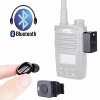 מכשיר הקשר מכשיר הקשר אוזניית Bluetooth K / M סוג מיני אוזניות כף יד שני הדרך רדיו אלחוטי אוזניות עבור מוטורולה Baofeng 888S UV5R (1)