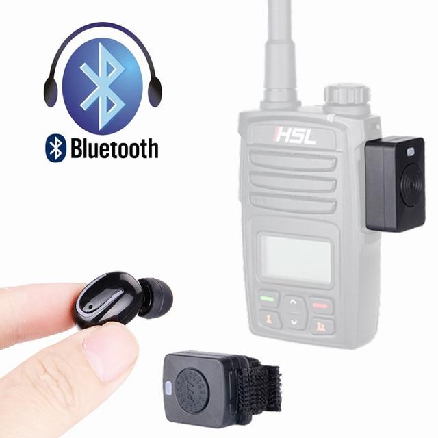 4a5eea5ea43 Walkie Talkie Bluetooth Headset K/M Type Mini Earphone Handheld Two Way  Radio Wireless Headphones For Motorola Baofeng 888S UV5R