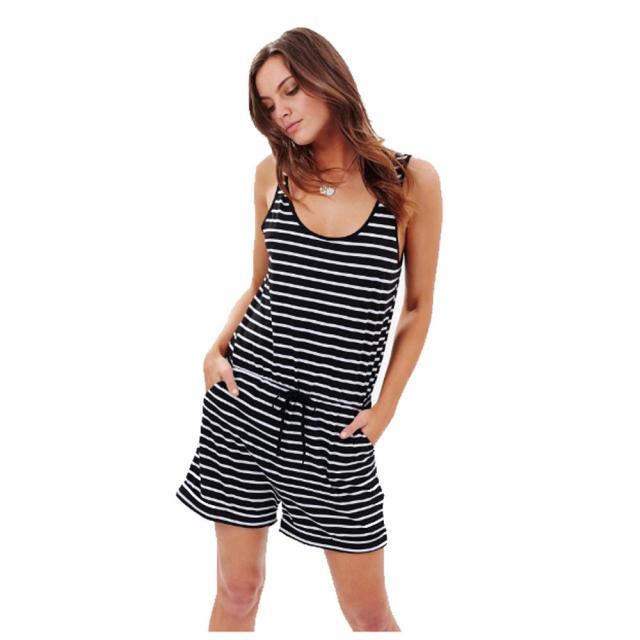 2018 NEW Sexy Women Stripe Sleeveless Mini lace bodysuit women elegant Bodysuit fashion Mar26 w20d35