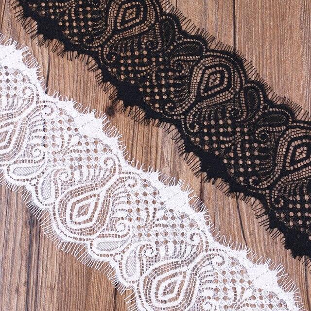 2017 nieuwe aankomst 10 cm breed wimper trim kant stof naaien applique 3 meterpartij