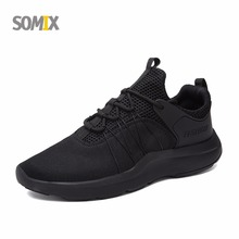 Somix Limited Hard Court Wide(c,d,w) Running Shoes Men Breathable Sneakers Slip-on Free Run Sports Fitness Walking Free shipping