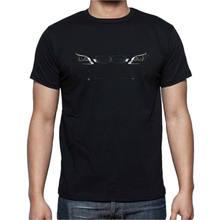 Auto T-shirt Engel Augen Racing Schwarz Baumwolle V8 Drift P013 Herren T Shirt Sommer O Neck 100% Baumwolle günstige großhandel