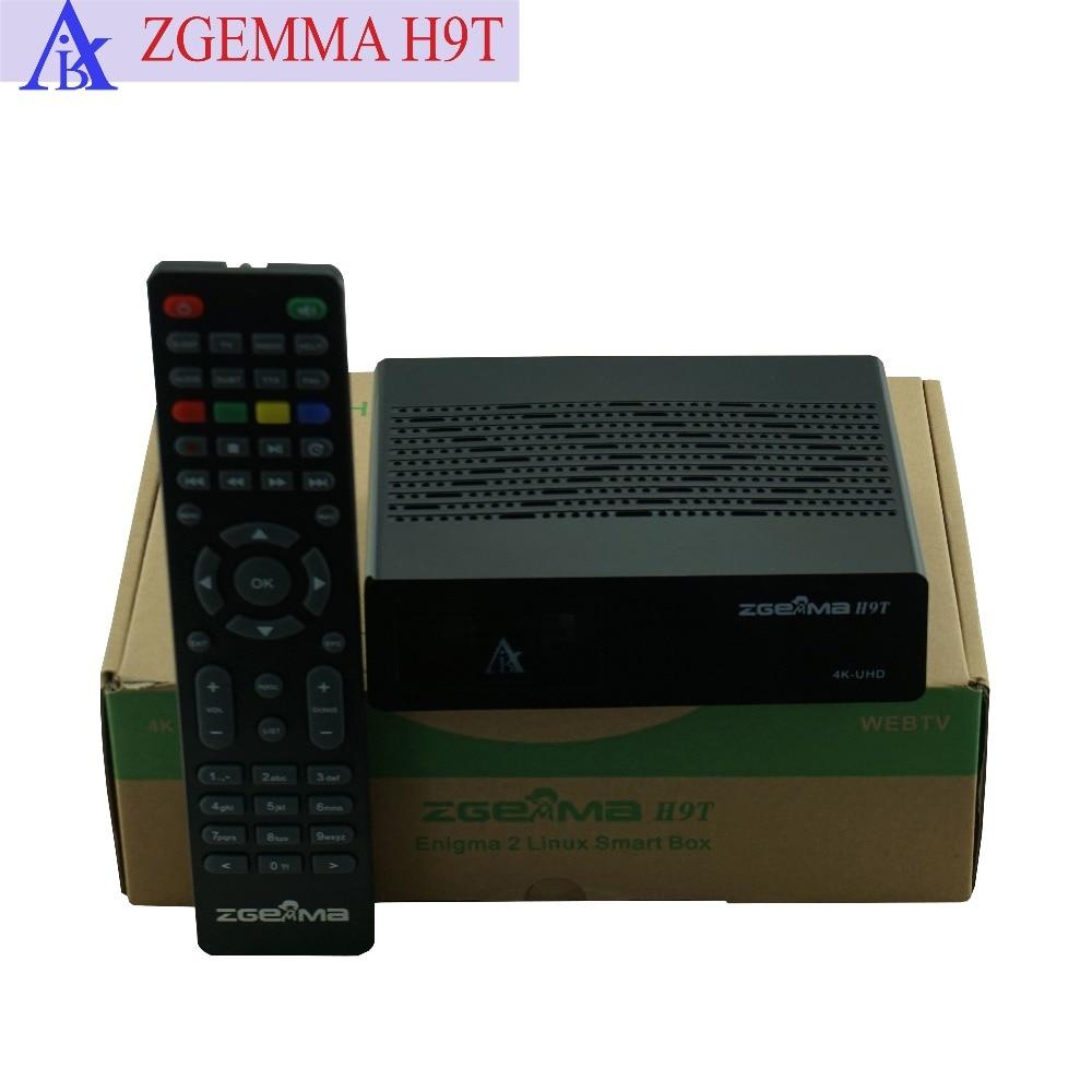 Meilleure offre pour 10 pcs/lot ZGEMMA H9T avec Tuner hybride DVB-T2/C 4 K récepteur numérique terrestre/câble UHD