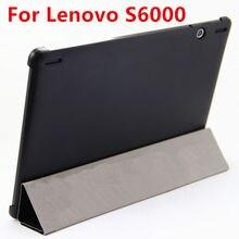 Cubierta Elegante de Cuero del caso Para Lenovo S6000 Tablet Protector Para Ideatab S6000H S6000F S6000G 10.1 pulgadas PU Protector de la Caja de la Manga