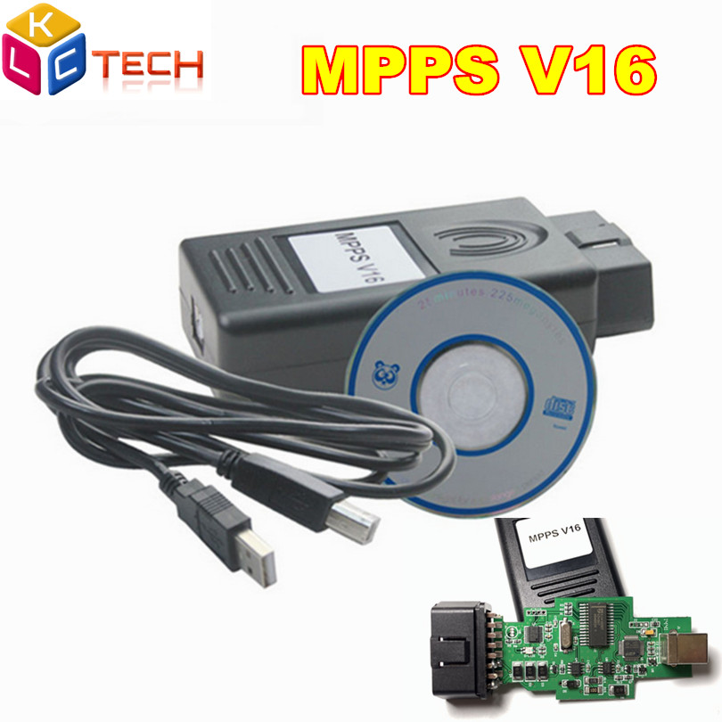 10pcs lot DHL Best MPPS V16 ECU Chip Tuning Professional Tool MPPS V16 For EDC15 EDC16