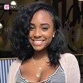 7A Corto Bob peluca Llena Del Cordón Pelucas de Pelo Humano Para Las Mujeres Negras Onda Natural Virginal brasileña Del Pelo Del Frente Del Cordón Del Pelo Humano Bob Pelucas corto