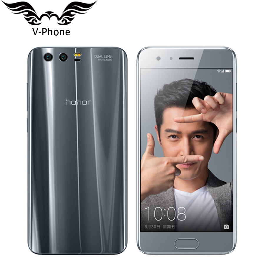 Original Huawei Honor 9 4G LTE Mobile Phone 5 15 Kirin 960 Octa Core 6GB RAM
