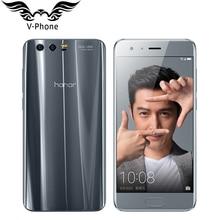 """Ursprünglicher Huawei Honor 9 4G LTE Handy 5,15 """"Kirin 960 Octa-core 6 GB RAM 64 GB ROM Dual Hinten 1920*1080 P Fingerabdruck NFC"""