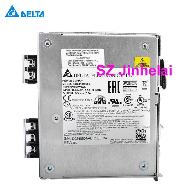 DELTA DRP024V060W1AA Authentic original Switching power supply EOE11010006  2 5A 60W Din Rail Power Supply Series