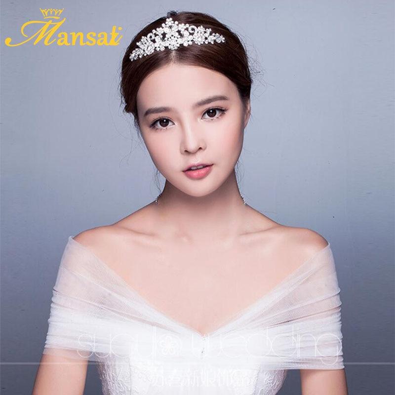 Rhinestone Butterfly Tiaras Crown Wedding Crown Bride Crown Silver Plated Woman  Hair Accessories Bridal Hair Jewelry HG005 5f2882c1ffcb