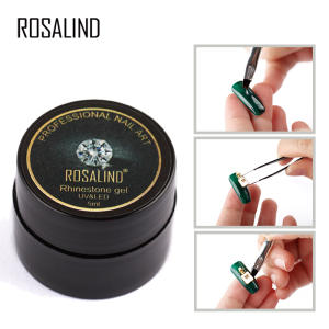 ROSALIND 5ml Gel Nail Sticking Rhinestone UV LED Gel lacquer Semi Permanent Adhesive DIY Decoration Tools Nail Gel Polish Glue