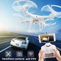 X6 FPV RC Quadcopter Zangão com WI-FI 200 W Câmera HD 2.4G 6-Axis Zangão Um Retorno Decapitado Modelo RTF 4CH Helicóptero Menino toys