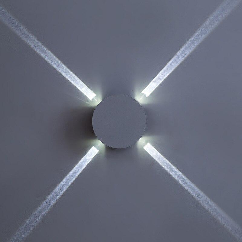 110 220 v Lâmpada Acrílico Luz Conduzida Da Parede de Alumínio ...