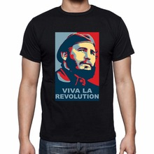 New high quality 2019 Print T Shirt Men Hot Fidel Castro Revolution cotton 3D T-shirts Tee Homme shirt Funny