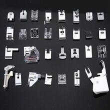 30/32/48/52 шт мини швейная машина прижимная лапка для Brother Singer Janome лапок плетение потайной строчки штопки