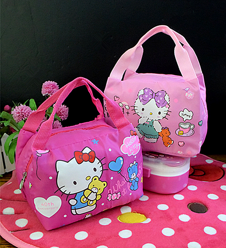 New Hello kitty Thermal Picnic Cooler Insulated Portable Bag Hello Kitty  Travel Bag Kids yey 6-in Top-Handle Bags from Luggage   Bags on  Aliexpress.com ... e39bbbae3828a