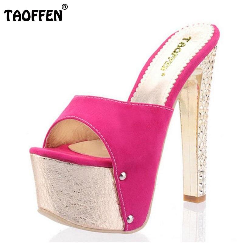 Taoffen/Бесплатная доставка; босоножки на высоком каблуке высокого качества Модные пикантные женские сандалии обувь p11241 Лидер продаж; европей...
