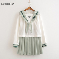 LANSHITINA New Fashion Sexy Costumes Sexy School Students Costume Halloween Outfit Schoolgirl Costume Uniform